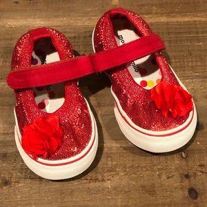 Morgan & Milo Glitter Red Shoes